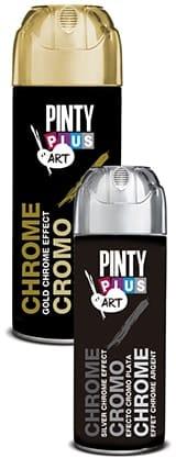 pintura efecto cromo