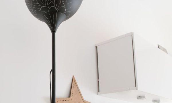 renovar una lmpara con pintura pizarra en spray