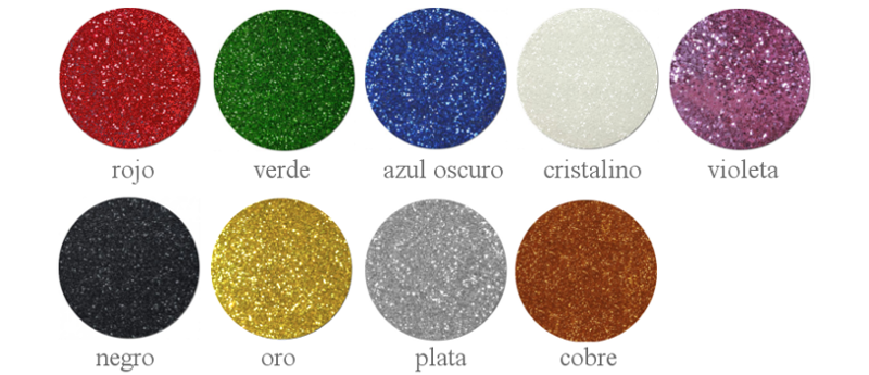 Escarcha glitter colores Pintyplus
