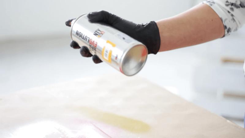 Modo de empleo de la pintura en spray