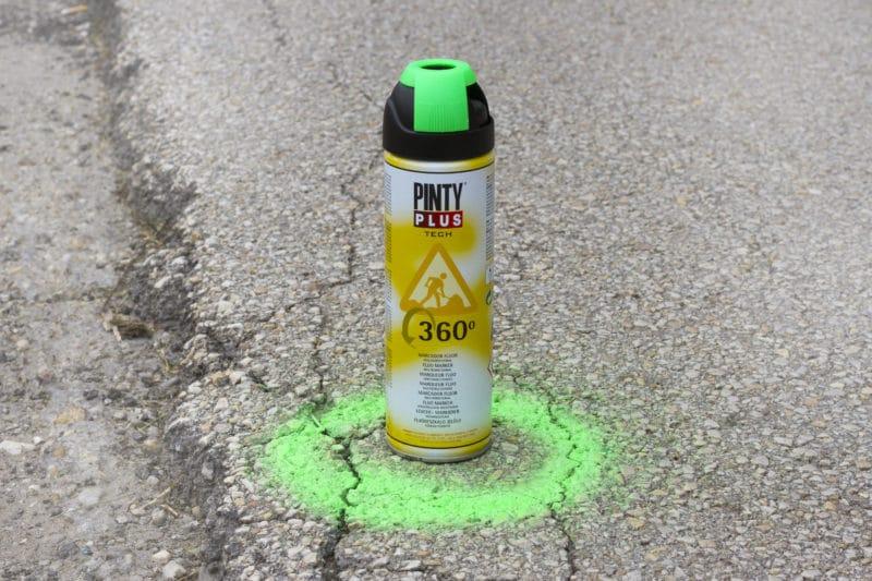 Marcador topografico fluorescente en spray Pintyplus