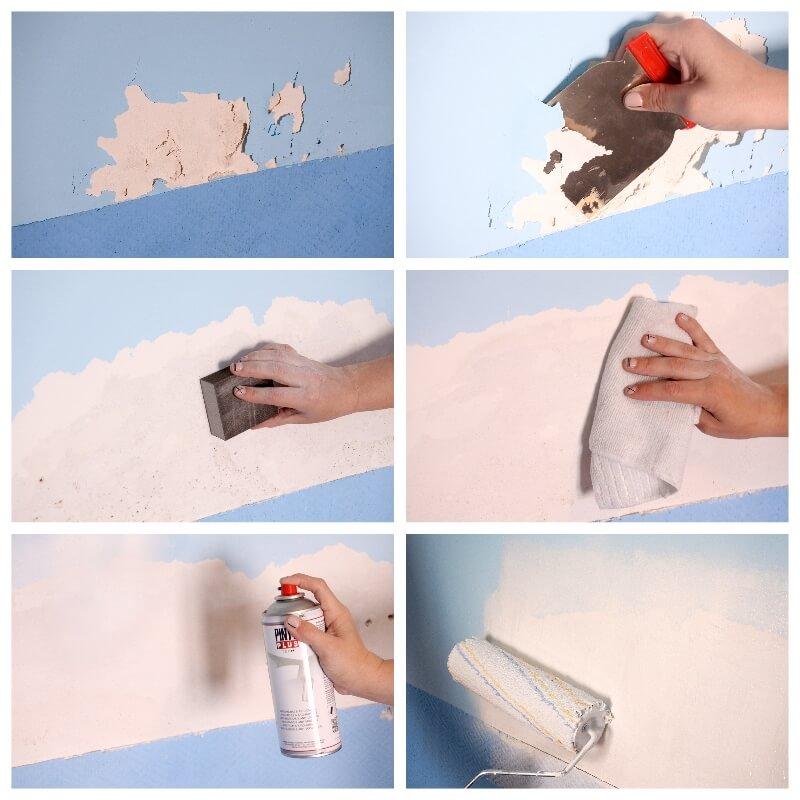 Quitar manchas de humedad de la pared