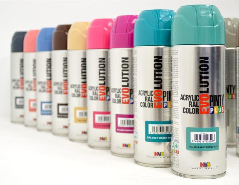 Colores pintura en spray Pintyplus Evolution acrílica
