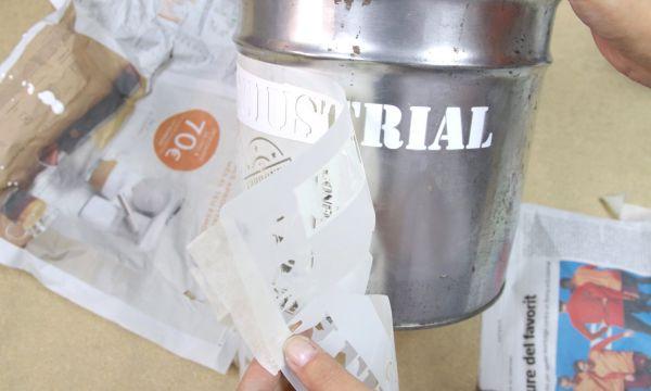 Cubo industrial con stencil Pintyplus